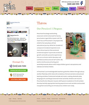 Stepping Stones Child Care Center - Preschool for 3 Year Olds page