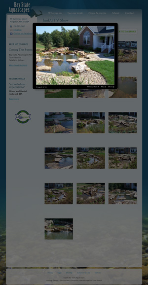 Bay State Aquascapes - See Our Work page