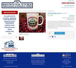 Brewster Store Cranberry Mug page