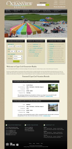 Cape Cod Oceanview Realty Vacation Rentals
