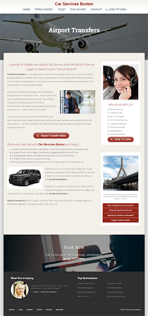 Car Services Boston - Air Transfers page