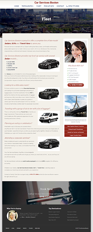 - Car Services Boston - Fleet page