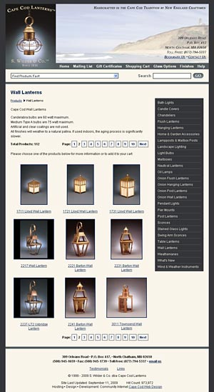 Cape Cod Lanterns home page