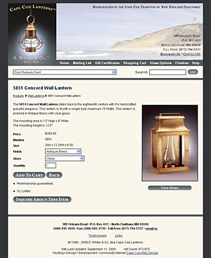 Cape Cod Lanterns inside page