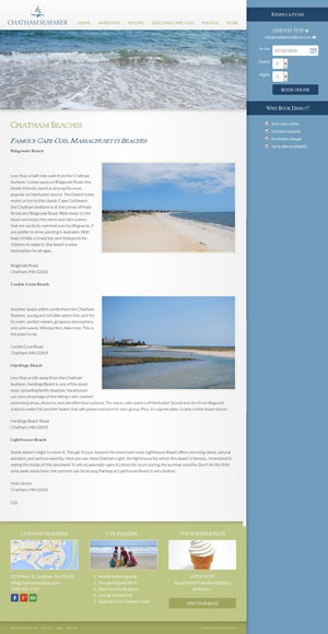 Chatham Seafarer - Beaches page