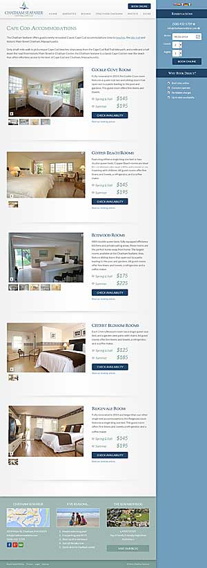 Chatham Seafarer - Accommodations page