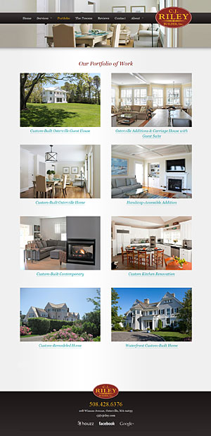 C.J. Riley Builder, Inc. - Our Portfolio of Work page