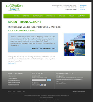 Coastal Community Capital - Recent Transactions page
