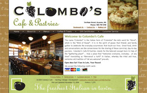Colombo's Cafe home page