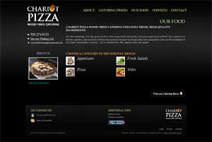 Chariot Pizza Fine Catering Menu Selections