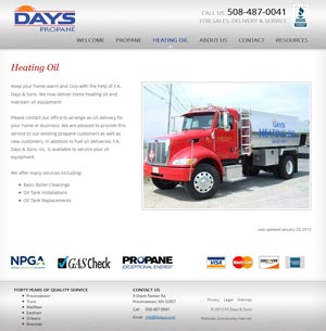 Day's Propane - Heating Oil Overview page