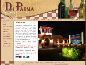 Di Parma Italian Table home page
