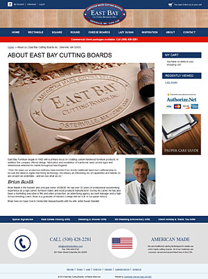 East Bay Cutting Boards - About Us page
