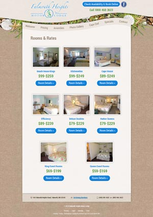 Falmouth Heights Motor Lodge - Rooms and Rates page