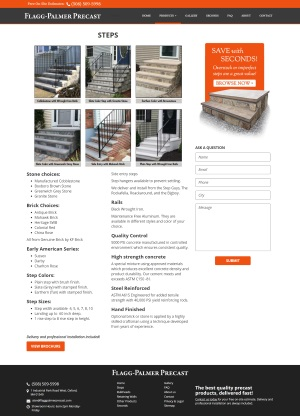 Flagg Palmer Precast - Steps page