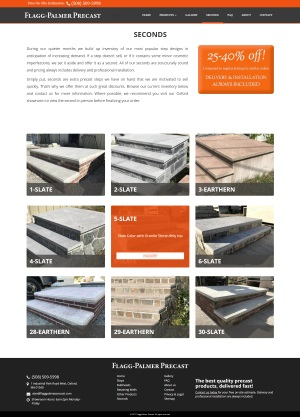 - Flagg Palmer Precast - Seconds page