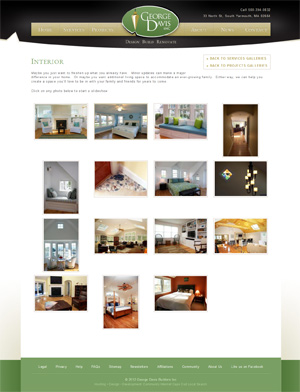 George Davis Builders - Interiors Gallery page