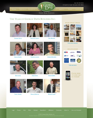 George Davis Builders - Meet the Team page