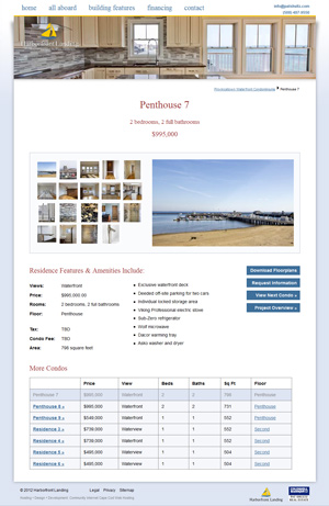 Harborfront Landing - Penthouse listing page