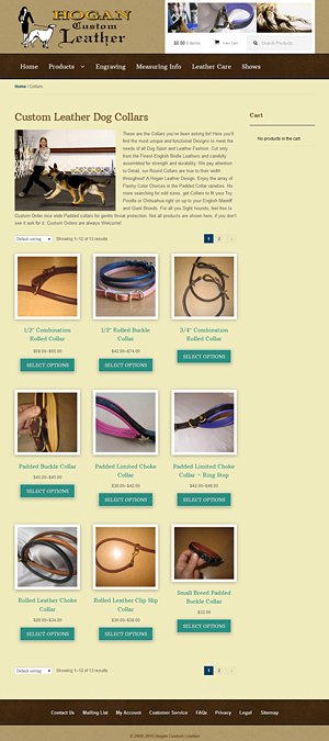 Hogan Custom Leather home page