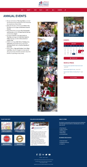 Hyannis Main Street - Annual Events page