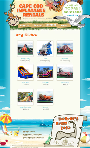 Cape Cod Inflatable Rentals - Product Category page