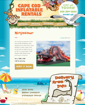 Cape Cod Inflatable Rentals - Product page