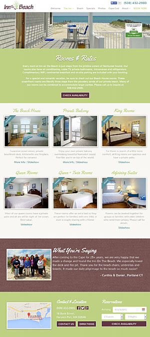 Inn on the Beach Rooms and Rates