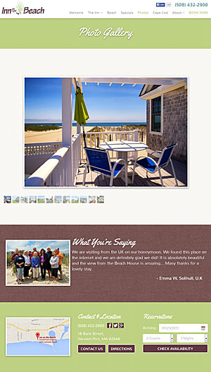 Inn on the Beach Photo Gallery Page
