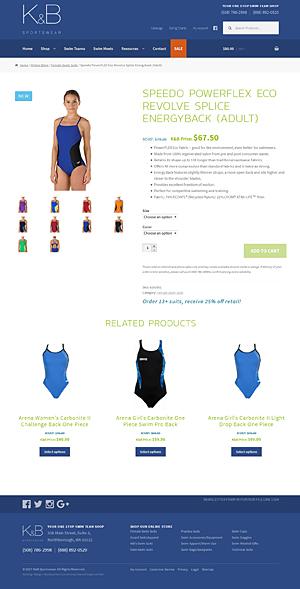 K&B Sportswear product page