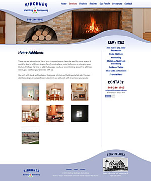 Kirchner Building & Remodeling - Home Additions page