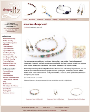 Designs by Liz home page