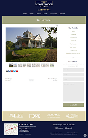 Minglewood Homes, Inc. - Portfolio page