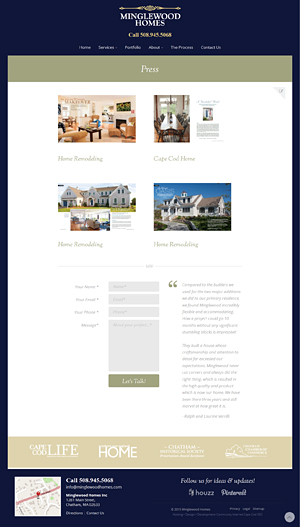 Minglewood Homes, Inc. - Press page