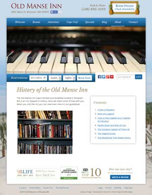 Old Manse Inn History page