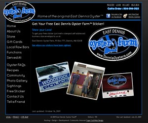 East Dennis Oyster Farm™ Free Sticker