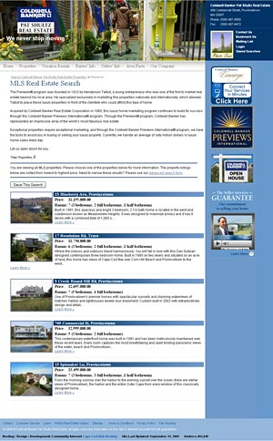 Coldwell Banker Pat Shultz Real Estate listing page