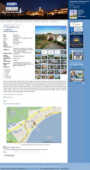 Coldwell Banker Pat Shultz Real Estate Detail Page