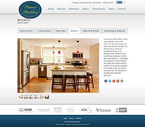 Patriot Builders - Kitchens page