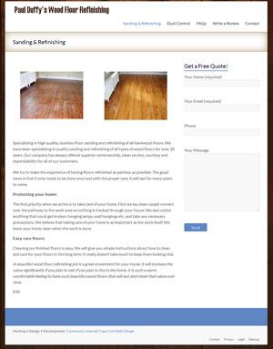 Paul Duffy's Wood Floor Refinishing - Sanding & Refinishing page