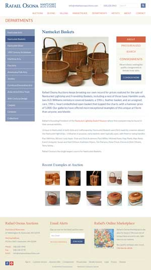 Rafael Osona Auctions - Nantucket Baskets page