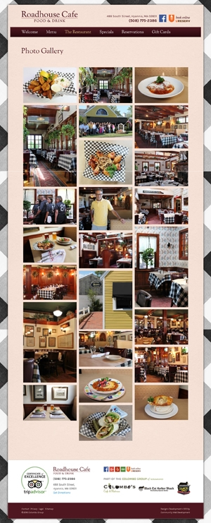Roadhouse Cafe Photo Gallery page