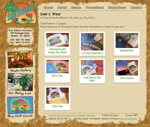 Sam Diego's Mexican Cookery store page