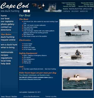 Cape Cod Sea Duck Hunting Boat Details page