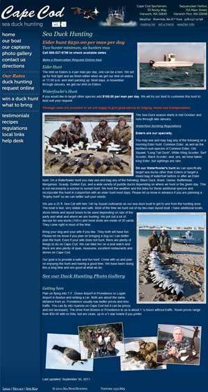 Cape Cod Sea Duck Hunting details page