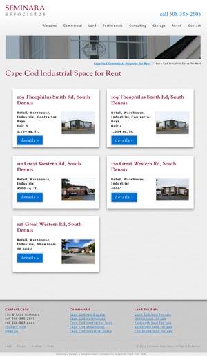Seminara Associates - Property Listing page