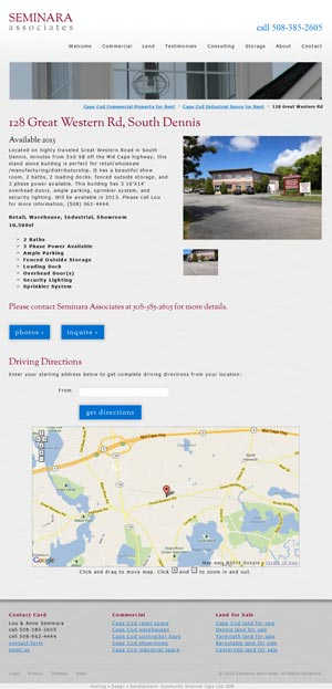 Seminara Associates - Property Detail page
