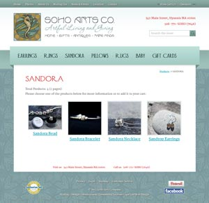 SoHo Arts Co. - Sandora Products page