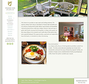 The Village Inn - The Experience page