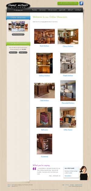 Thomas Michaels Kitchens - Online Gallery page